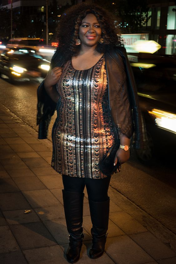 #plussize sequin dress #holidays #additionelle