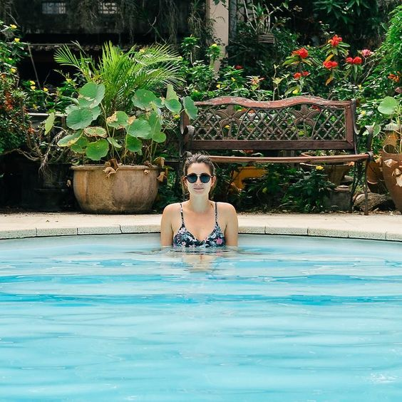 Happiness therapy!  #Laos #Lao #Vientiane #swimmingpool #blue #happiness
