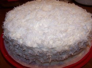 Coconut cake recipe made with buttermilk
