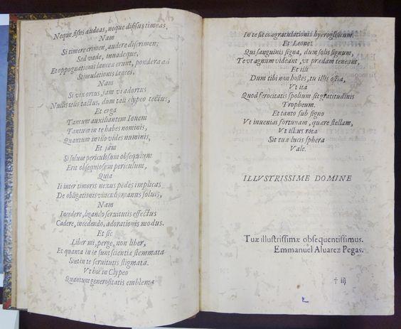 PEGAS, Manuel Álvares, 1635-1696. Commentaria ad ordinationes regni portvgalliae : tomvus prmvs. Ulyssipone: Ioannis A Costa, 1669. Detalhe: interior da obra