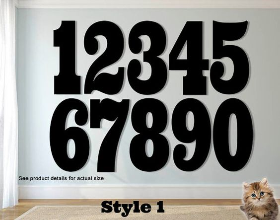 15 INCH Extra Large Steel House Numbers  Individual by UpNorthSign