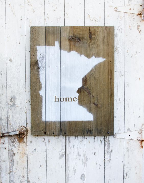 Minnesota Silhouette Minneapolis Home Reclaimed Barn Wood Wall Sign by  danielleevoigt on Etsy https:/ - Minnesota Silhouette Minneapolis Home Reclaimed Barn Wood Wall