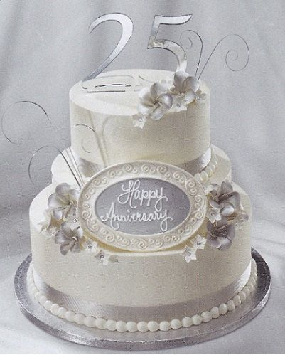 Gumpaste 25th Silver Anniversary Plaque Cake Topper By Microcakes 2995