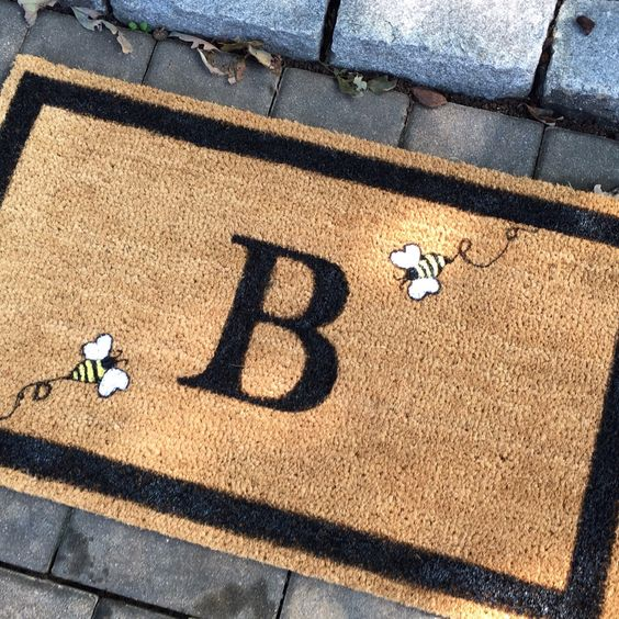 A personal favorite from my Etsy shop https://www.etsy.com/listing/465596247/personalized-doormat-custom-door-mat