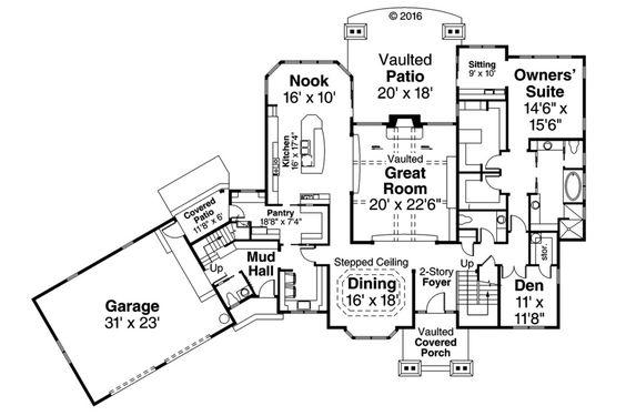 Craftsman Style House Plan -  mudroom