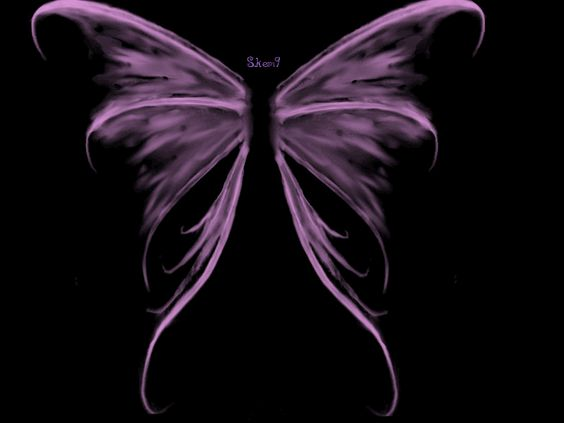Purple Angel Wings Wallpaper   This is the lovely tiny ...