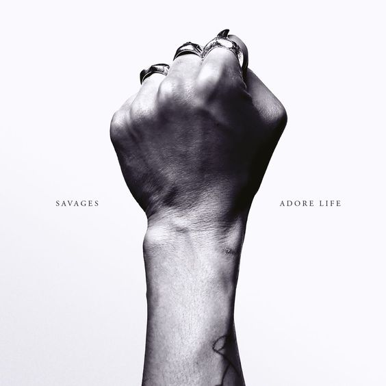 Cover design for 'Adore Life' by Savages
