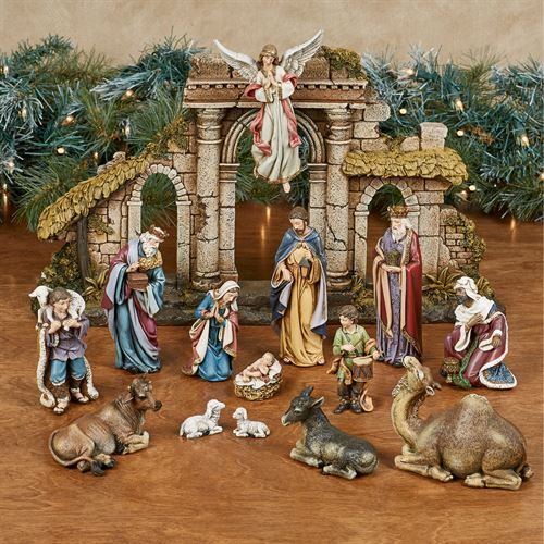 Heirloom 15 Pc Nativity Set By Roman Nativity Set Nativity Scene Display Christmas Nativity Scene Display