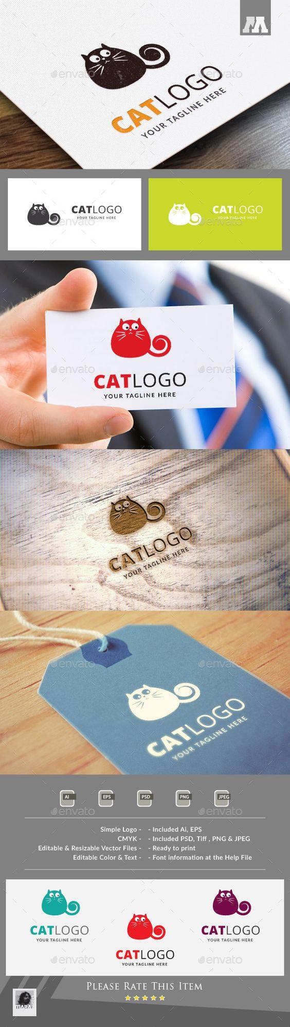 Logotipos con gatitos aptos para muchos tipos de negocio, como clínicas veterinarias, cuidadores, creativos, tiendas de ropa, etc.