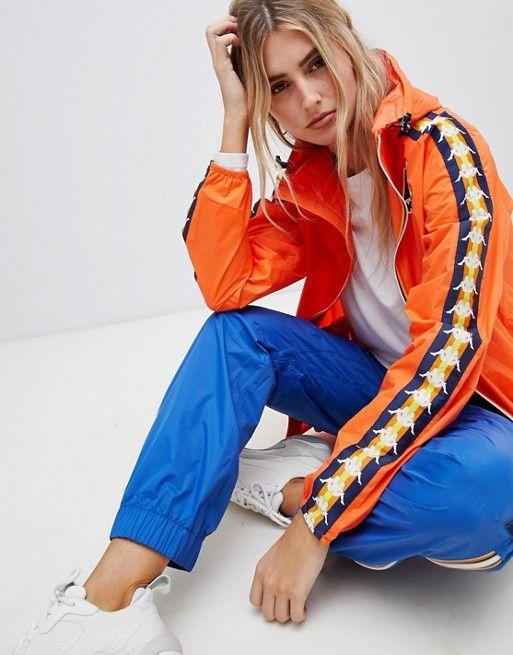order online closer at buying now K-Way X Kappa zip through rain jacket | Fashion Archive: A-M ...