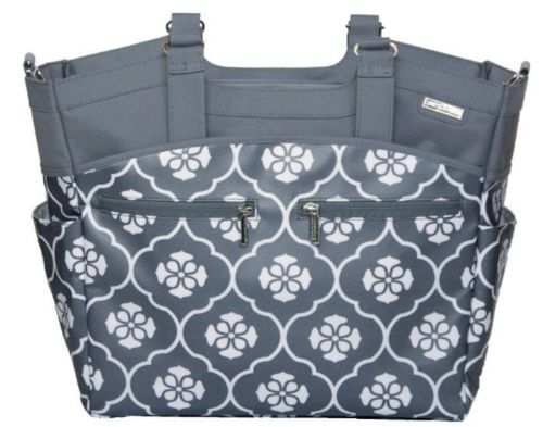 jj cole camber baby diaper bag tote with pad stroller straps gray floret products pinterest. Black Bedroom Furniture Sets. Home Design Ideas