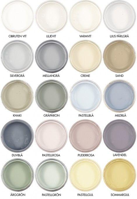 Byggfabrikens färgskala - Auro naturlig väggfärg. Från: http://www ...