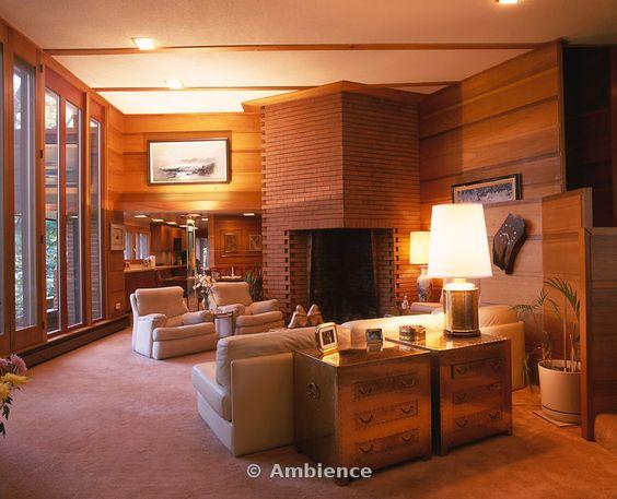 Andrew F.H. Armstrong House. 1939. Ogden Dunes, Indiana. Usonain Style. Frank Lloyd Wright