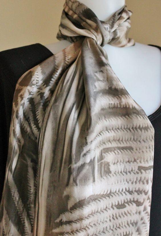 Pintado a mano bufanda de seda pintado a mano por Palettepassion