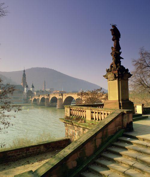 Grafik:  Heidelberg - Alte Brücke