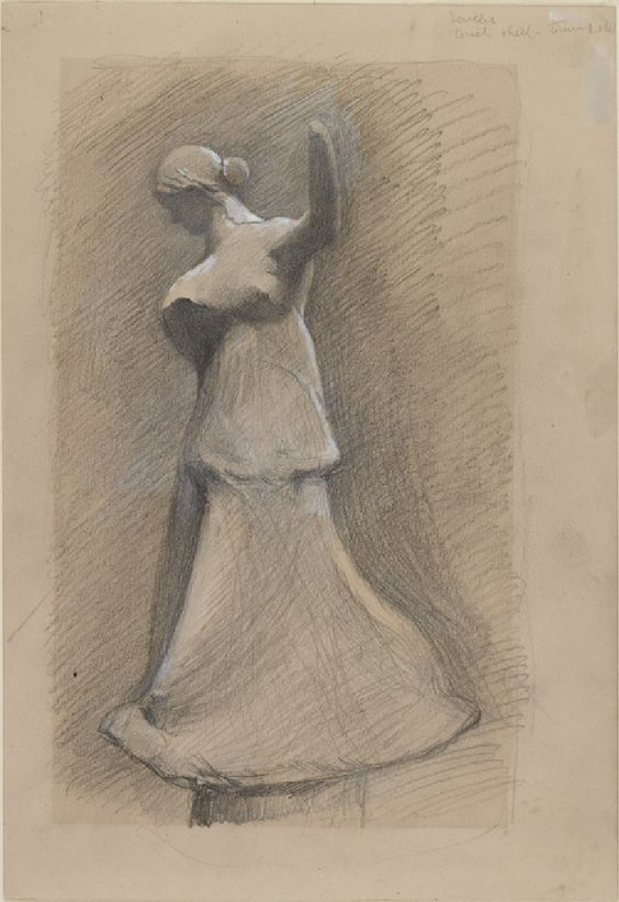 Ruskin, John - Study of a Greek Terracotta of a Girl dancing