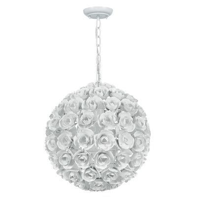 Crystorama Cypress 1 Light Globe Pendant