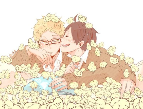 Adorable! This two is so adorable (and I know I've been saying this a lot, but I can't help it)! #TsukkiYama