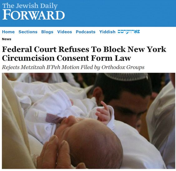 Federal Court Refuses To Block New York Circumcision Consent Form