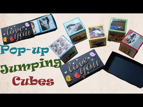 Diy Lam Hộp Popup Nảy Jumping Popup Cubes Handmade Card Tutorial Youtube Pop Up Card Templates Diy Valentines Gifts Card Tutorial