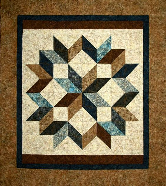 (7) Name: 'Quilting : Carpenters Star Revised Three Sizes