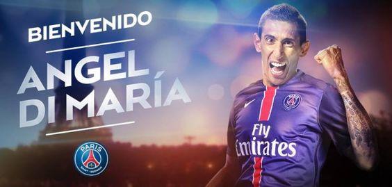 """Di María assina pelo PSG e torna-se no jogador """"mais caro"""" da história http://angorussia.com/desporto/di-maria-assina-pelo-psg-e-torna-se-no-jogador-mais-caro-da-historia/"""