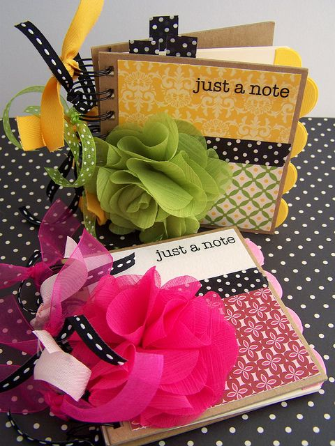 Just a Note - Altered Notebooks, via Flickr.  Going to let my daughter create these for her friends