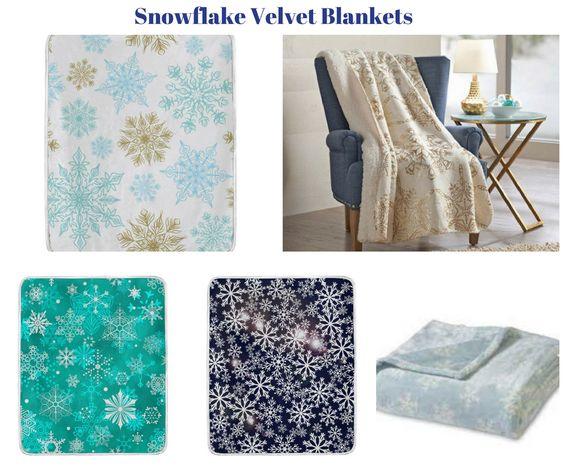 Snowflake Velvet Blankets