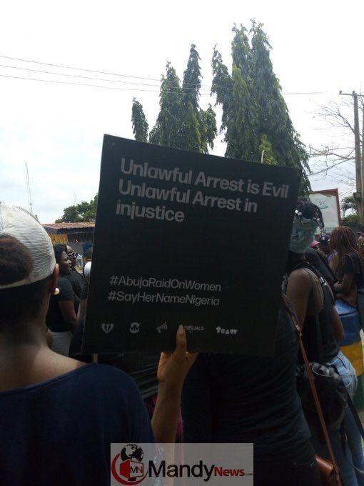 Sayhernamenigeria Protest Rocks Abuja Lagos Over Police Raid On Women Photos Lagos Abuja Protest