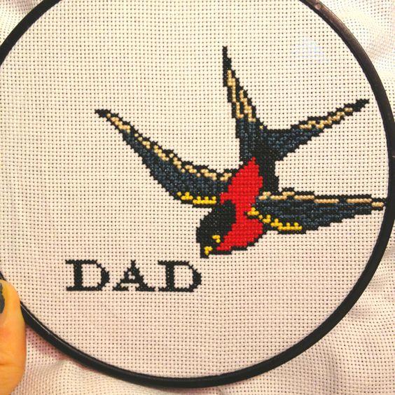 Father's day cross stitch
