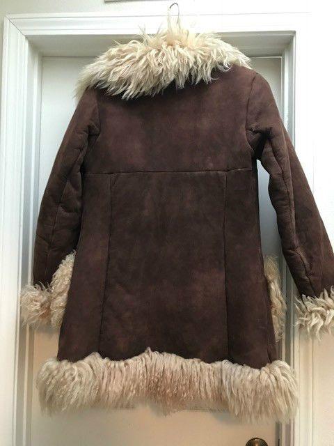 Details About Sheepskin Shearling Long Hair Coat True