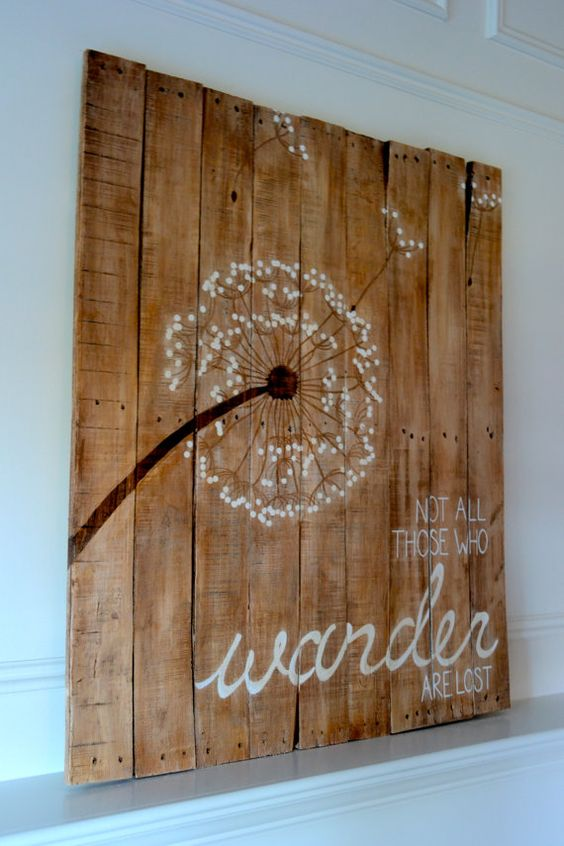 Reclaimed Wood Art Sign: Dandelion Not All Those by BooneCreekLoft