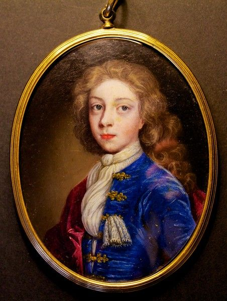 A very fine portrait of a young boy by ENGLISH SCHOOL : The British Antique Dealers' Association. Oil on vellum.
