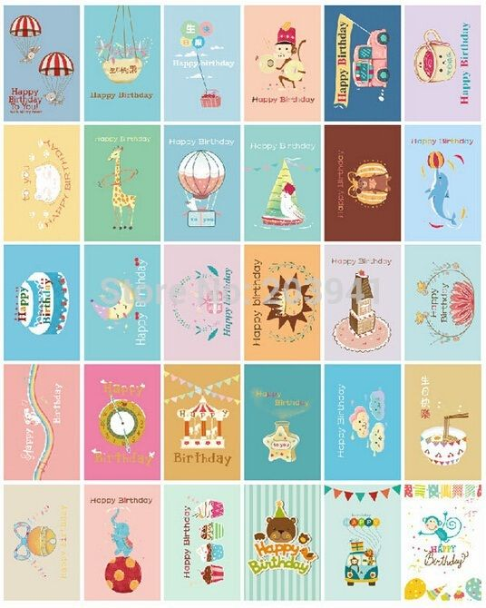 InfeelMe3030pcssetHappy Birthday series DIY Multifunction postcardBOOKMARKVintage LOMO CARDwholesale (1).jpg