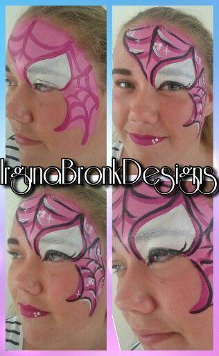 Spidergirl facepaint