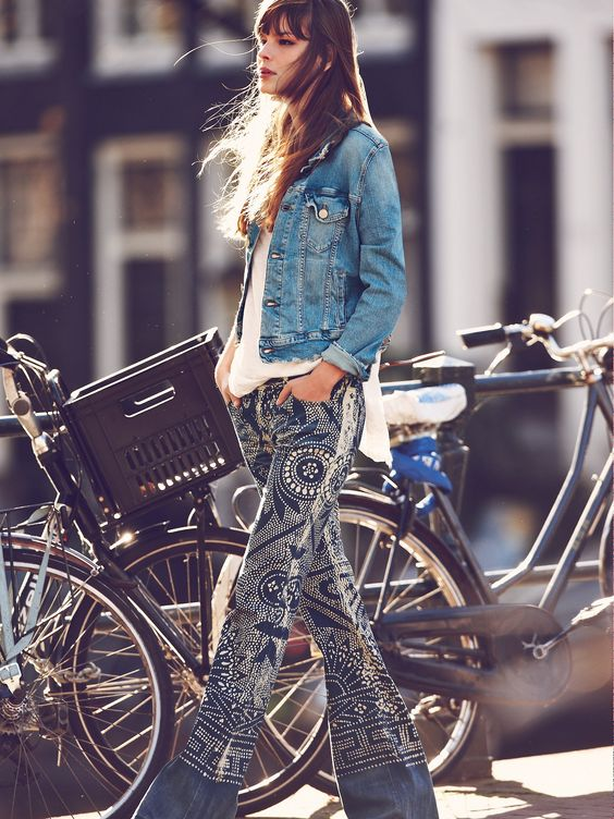 Lovely denim + flare jeans