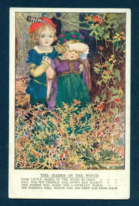 Millicent Sowerby postcard Babes in The Wood | eBay: