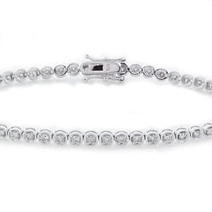 #Malakan #Jewelry - White Gold Diamond Tennis Bracelet BL7073 #Bracelet #Fashion #TennisBracelet