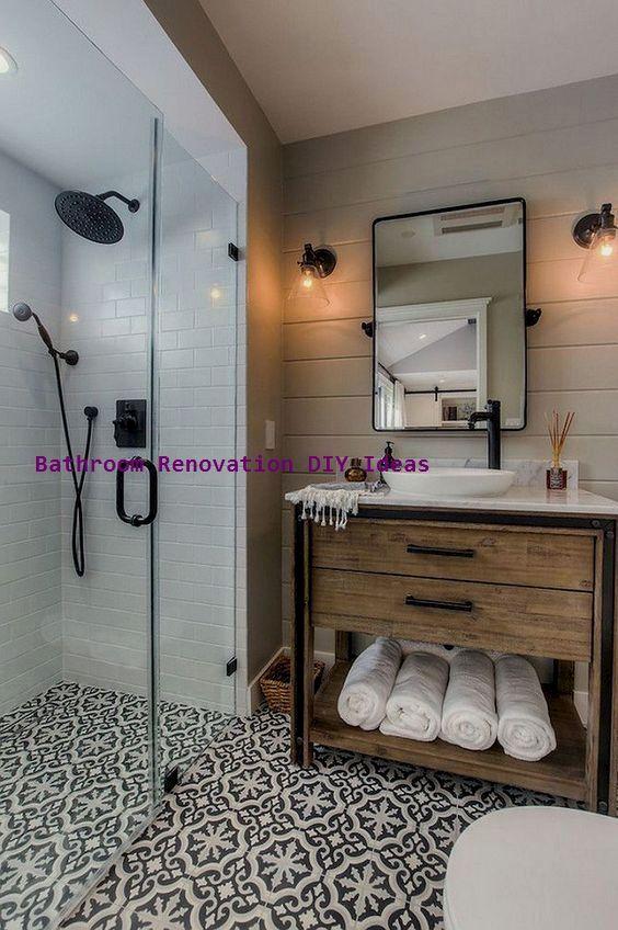 125 Awesome Farmhouse Badezimmer Vanity Remodel Ideas Seite 5 Von 121 Abidah Dec In 2020 Cottage Style Bathrooms Small Farmhouse Bathroom Bathroom Vanity Remodel