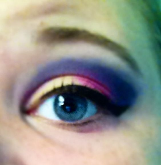 The perks of having a friend who's a make up artist. :)