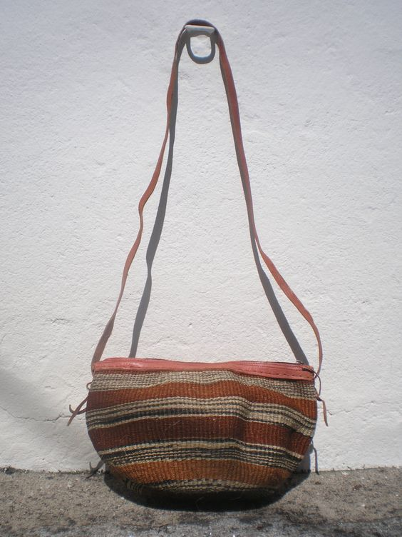 Shoulder Bag - Sisal Leather Bag- Woven Sisal bag - 70's Inspiration - OficinaDartesa*Craftswoman Shop by OficinaDartesa on Etsy