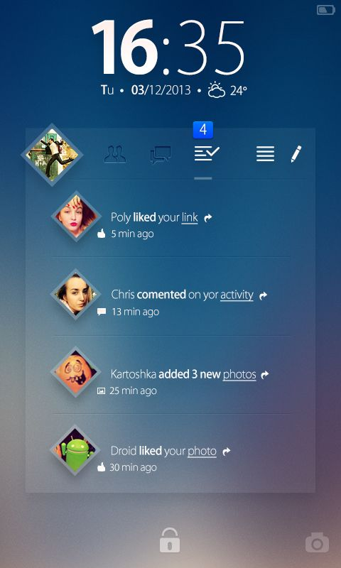 Facebook Widget - Concept on Behance