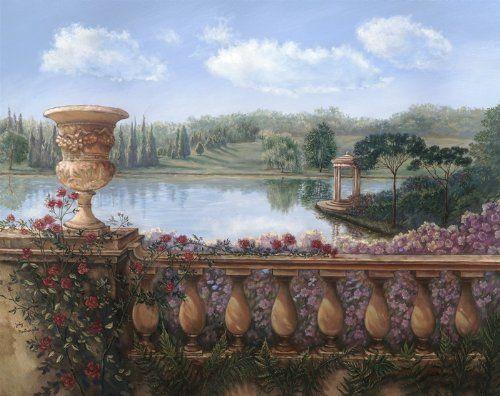 Balustrade Painting By Judy Mastrangelo
