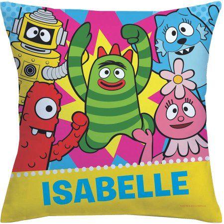 Personalized Yo Gabba Gabba Dance Party Throw Pillow, Multicolor