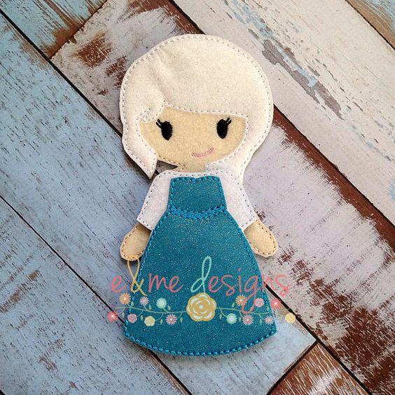 Elle Felt Doll Embroidery Design 5x7 Hoop or by EandMeDesigns