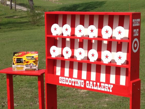 Nerf Shooting Gallery Carnival Game for Birthday, Church, VBS or School Party. $299.00, via Etsy.