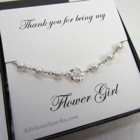 Flower girl thank you gift Flower girl by adrianasparksacc on Etsy, $30.00