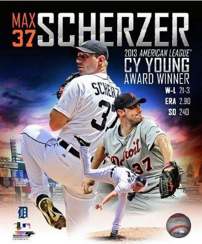Max Scherzer Detroit Tigers 2013 AL CY Young Award