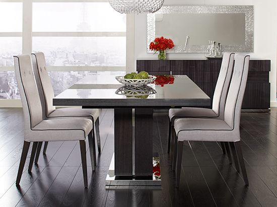 Scandinavian Style Dining Room Table: Pedestal, Gray And Dining Rooms On Pinterest