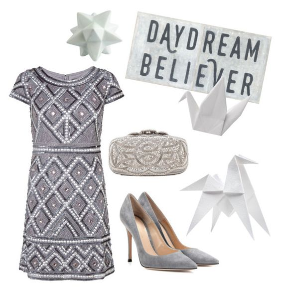 """""""daydream"""" by janesmiley ❤ liked on Polyvore featuring Oscar de la Renta, Gianvito Rossi, Sugarboo Designs, Hermès, L'Abitare, HomArt and Adrianna Papell"""